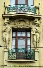 Prager Fassadendetails - 11 (fotomänni) Tags: prag prague praha jugendstil fassadenfiguren skulptur skulpturen sculpture kunst art manfredweis