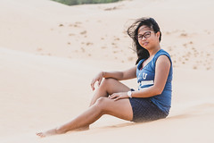 PMF (tarjangz) Tags: thànhphốphanthiết bìnhthuận vietnam vn girl woman pretty young lady sexy long black hair sand wind outdoor summer filipina
