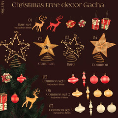 Christmas tree decor gacha Key (Myrrine.) Tags: christmas xmas tannebaum secondlife gacha myrrine 3d holidays celebration