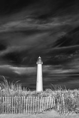 Cape May Lighthouse, Infrared 2 (ms2thdr) Tags: 720nm beach capemay ir infrared lightouse monochrome nj newjersey