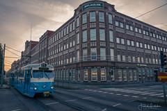 Destination Gothenburg Oldtown (Fredrik Lindedal) Tags: tram train building street streetview windows sky sunrise sweden sverige gothenburg göteborg lindedal