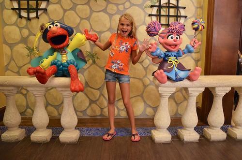 Elmo, Violet, And Abby