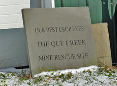 Never a Truer Statement (George Neat) Tags: 9for9 ninefornine somerset county quecreek mine rescue miracle scenic landscapes monument laurelhighlands georgeneat patriotportraits neatroadtrips clouds