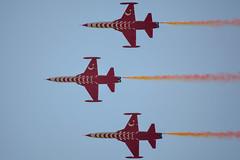 Turkish Stars [1494] (my.travels) Tags: turkish stars f5a freedom fighter acroteam aerobatics flight aviation airforce air force aircraft jet nikon d3200 nf5a nf5