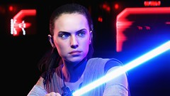 """Hostile Situation"" (Anofelah) Tags: rey star wars tfa skb battlefront photo portrait girl lighting scifi character lightsaber"