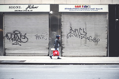 Drops of Red (Mandy Lou Who) Tags: approved red rule nyc new york city graffiti gray tones urban life street nikon d850 2470mm