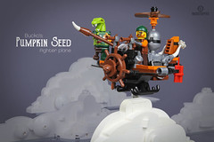 "Skypirates' Pumpkin Seed (Markus ""madstopper78"" Ronge) Tags: moc legosteampunk toyphotography legopotsdam fullsteamlego steampunk skypirates skybound airship legoninjago ninjago steampunklego"