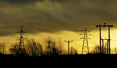 Woodend (Brian Cairns) Tags: towers pylons electricity woodendess gartcosh gartloch brianbcairns rain incoming deviation power