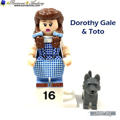 16) Dorothy Gale & Toto (WhiteFang (Eurobricks)) Tags: lego collectable minifigures series city town space castle medieval ancient god myth minifig distribution ninja history cmfs sports hobby medical animal pet occupation costume pirates maiden batman licensed dance disco service food hospital child children knights battle farm hero paris sparta historic brick kingdom party birthday fantasy dragon fabuland circus people photo magic wizard harry potter jk rowling movies blockbuster sequels newt beasts animals train characters professor school university rare sign movie warner brothers apoc
