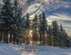 Winterlicher Sonnenuntergang im Harz (the_real_raph) Tags: fujifilmxt3 harz germany deutschland ski schnee snow mountain winter sunset sunstar fujinonxf16mmf14rwr flickrtravelaward