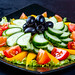 Diet fresh salad with vegetables