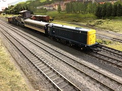 Crane Train (Callum's Buses and Stuff) Tags: hornby newcastleton elmrc class 20 class20 guv breakvan crane br track oo edinburgh waverley waverleyroute