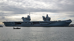 Her Majesty's Ship Queen Elizabeth (Bernie Condon) Tags: carrier aircraftcarrier military warship navy rn royalnavy qec queenelizabethclass queenelizabeth hmsqueenelizabeth hermajestysship hms uk british ship boat biglizzie r08 portsmouth harbour port solent hampshire hants