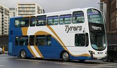 Tyrers Coaches, Adlington LX11CWN on Rail Replacement duties in Manchester. (Gobbiner) Tags: railreplacement volvo tyrerscoaches b9tl manchester wvl408 wrightbus bolton lx11cwn adlington eclipsegemini