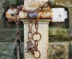 Drainpipe (wombat101010) Tags: drainpipe rust rusty chain pentax pentaxk70 k70 lock paint