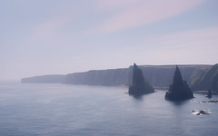 Duncansby Stacks (ShinyPhotoScotland) Tags: art photography equipment camera lens places scotland light sunlight landscape vista emotion beautiful rawconversion manipulated composite hdr brightsunlight enfuse digikam elegance composition shapely rules memories toned contentment contrasts nearfar affection peace highviewpoint skyearth tranquil colour calm dreamy rawtherapee balance raw serifaffinityphoto lightanddark pure rockwater rugged naturehappens nearmidfardistance highlands isolation still fuji fuji1650mm fujixt20 caithness coastal johnogroats duncansbyhead duncansbystacks structure clifftop