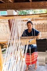 RFE 7090 to 3360 Phrae Day 1  by Terry Babij--3549 (Terry Babij) Tags: 2018 fabric fiolk historic looms musicalinstrumentmaker phrae rfe rfe2018 thailand tradionalinstruments weaving