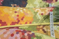The bridge over the rainbow (Andrea Rizzi Esk) Tags: barcelona spain architecture architectural reflex briedge steel color colorfool roof market contrast november santa caterina urban city distortion