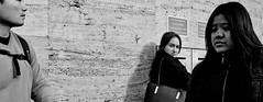 Suspicious mind! (Baz 120) Tags: candid candidstreet candidportrait city contrast street streetphotography streetphoto streetcandid streetportrait strangers sony a7 rome roma europe women monochrome monotone mono noiretblanc bw blackandwhite urban life portrait people italy italia grittystreetphotography faces decisivemoment