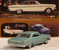 1965 Ford Falcon Sprint Promo Model Car -  Dynasty Green Metallic (coconv) Tags: car cars vintage auto automobile vehicles vehicle autos photo photos photograph photographs automobiles antique picture pictures image images collectible old collectors classic promotional dealership plastic scale promo model smp amt mpc johan revell hubley 125 124 banthrico sample kit coupe history historical dealer toy miniature 125th 1965 ford falcon sprint dynasty green metallic futura 65