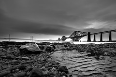 Light Waves (Victor Burclaff) Tags: forthbridge queensferry bridge scotland industrial