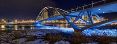 George C King bridge Panorama (John Andersen (JPAndersen images)) Tags: bowriver bridge calgary city night