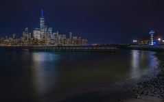 the lighthouse (karinavera) Tags: city longexposure night photography cityscape urban ilcea7m2 nyc thelighthouse newyork manhattan newjersey