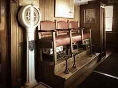 Sentimental Journey (lclower19) Tags: iphone 119in2019 79 oldfashioned shoshine seats scale steamingtender restaurant railroadstation palmer massachusetts