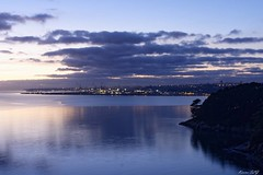 Port de Brest (karineslg) Tags: nuit mer rade port brest finistere lumière
