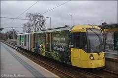 Manchester Metrolink 3072 (Mike McNiven) Tags: manchester metrolink tram metro lightrail lrv chorlton barlowmoorroad station stop manchesterairport airport victoria marketstreet advert advertisement wrap vinyl totallyjobs totallyjobscom