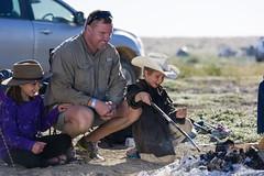 Dad teaching son around fire 2 - McLennan (Big Red Bash) Tags: australia queensland bigredbash bigreddune birdsville
