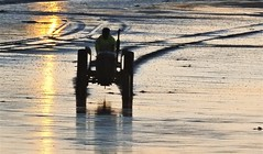 Coble Launch Tractor - Newbiggin-By-The-Sea (Gilli8888) Tags: newbigginbythesea newbiggin northeast coast seaside northumberland sunrise shoreline seascape sun sky rocks beach turbines northsea nikon p900 coolpix silhouette silhouettephotography tractor coble vehicle newbigginbeach