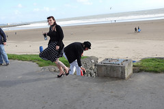 At the seafront (kevin Akerman) Tags: coupe drinking alcohol seafront beach dress elvis festival porthcawl