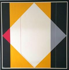 KONSTRUKTION GELB 1  1984 (HolgerArt) Tags: konstruktivismus gemälde kunst art acryl painting malerei farben abstrakt modern grafisch konstruktiv