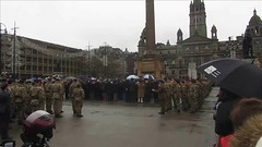 To Mark 100 Years 1918-2018 Of The End Of The First World War Armistice Remembrance Day Four Part Video At The Cenotaph In George Square Glasgow Scotland 2018 - 1 Of 4 (Kelvin64) Tags: to mark 100 years 19182018 of the end first world war armistice remembrance day four part video at cenotaph in george square glasgow scotland 2018