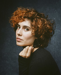Portrait of Clementine (bayek photography) Tags: clementine home mamiya rz67 mediumformat kodakfilm portra400 mamiyarz67 80mm onfilm ishootfilm filmphotography filmisnotdead filmandfriends actor headshot london photographer portra studio pixapro pixa pro essentialphoto onelight