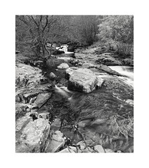 Cascades, Aira Force, Cumbria. (Geoff Kell (Old Forest Man)) Tags: lakedistrict rock water texture bw