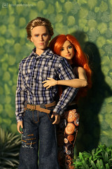 becky and the boyfriend (photos4dreams) Tags: beckylynch steampunk wrestler wrestling female doll redhead action irish ireland dublin photos4dreams p4d photos4dreamz barbie dress mattel toy barbies girl play fashion fashionistas outfit kleider mode tabletopphotography diorama canoneos5dmark3 canoneos5dmarkiii