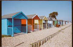 Calshot Beach (Attila Pasek (Albums!)) Tags: analogue beach pebble 160 pentaxsuperme calshot camera portra hut 35mm film kodak