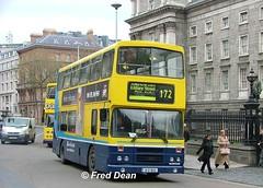 Dublin Bus RH113 (91D10113). (Fred Dean Jnr) Tags: april2005 dublin dublinbus busathacliath dublinbusyellowbluelivery leyland olympian alexander r collegegreendublin dublinbusroute172 rh113 91d10113 f6wms