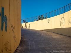 Shadow Family_B120406 (Jonathan Irwin Photography) Tags: shadow family shadows wall subway undepass ramp graffiti fuerteventura canaty island spain olympus omd emi mkii 1240mm lens
