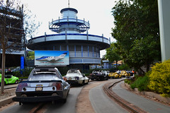 Autopia - Home Stretch (BudCat14/Ross) Tags: autopia disneyland architecture themeparks cars rides