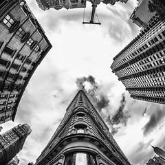 Nobody Knows What Kind of Trouble We're In (Thomas Hawk) Tags: america flatiron flatironbuilding manhattan nyc newyork newyorkcity usa unitedstates unitedstatesofamerica architecture bw fav10 fav25 fav50 fav100