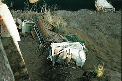 CC3 (stevenjeremy25) Tags: derailment ferromex fxe ndem fnm freight wagon railway railroad mexico hopper bridge river