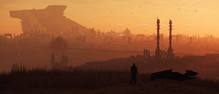 Periphery of Lorville | Blade Runner 4K style (Corsair62) Tags: star citizen game screenshot squadron 42 flight space ship cig robert industies pc ingame shot simulator video wallpaper corsair62 photography reclaimer 4k 219 gaming image scifi foundry cloud imperium games people photo levski station road cyclon night ride daymar sunset sky cutlass black hurston lorville city mountain