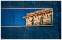 LAC Lugano Arte e Cultura (Reto Previtali) Tags: lugano city schweiz switzerland swiss blue blau windows fenster spiegelung reflection balkon balcony fassade geländer outside sky himmel linien nikon nikkor tamron sigma flickr digital art design light sun sonne licht bw