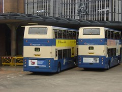 Stagecoach - 18018 - SF53BYR and 18002 - SF53BZJ - StagecoachUK20050602 (Rapidsnap) Tags: stagecoachwestscotland a1service trident adl transbus dennis alexander alx400