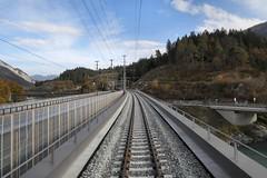 RhB Hinterrhein Bridge Sora Giuvna (Kecko) Tags: 2018 kecko switzerland swiss schweiz graubünden graubuenden gr bonaduz reichenau tamins hinterrhein rhein river fluss rhine rhätischebahn rhaetian railway railroad bahn viafierretica rhb eisenbahn brücke bridge soragiuvna hinterrheinbrücke swissphoto geotagged geo:lat=46822790 geo:lon=9407170