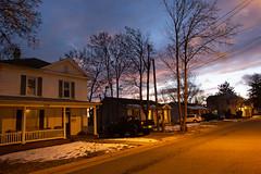 Day 54 of 365 - Your Neighborhood (gcarmilla) Tags: harrisonburg nightfall sunset tramonto sera virginia houses case casa casas cielo sky orange blue arancione