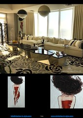 46-0493 La dame au chapeau - residential - Beverly Hills USA (claus.baermeier) Tags: luxury furnishing christopher guy interiorsinstyle living dining bedroom lobby office hospitality art deco picture mosaic